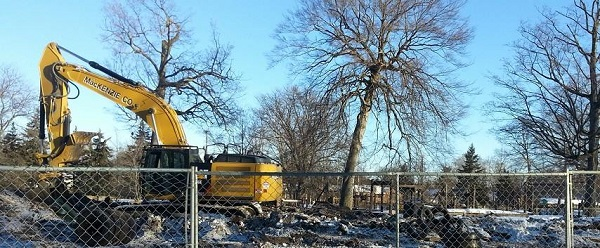Demolition Begins at Patriarche Park