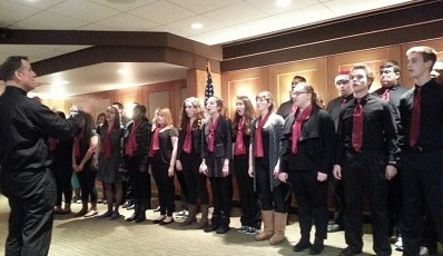 East Lansing High School Singers Entertain at Holiday Luncheon