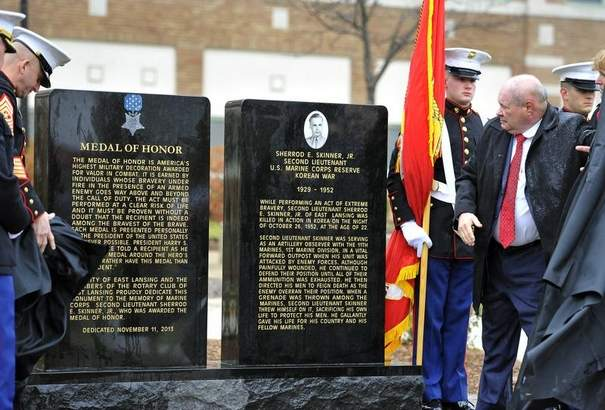 East Lansing Rotary Participates in Medal of Honor Monument Dedication