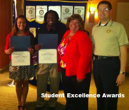 Students Receiving Awards from East Lansing Rotarians