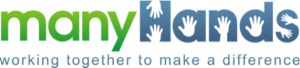 Many Hands logo for the organization that coordinates the Weekend Survival Kits program