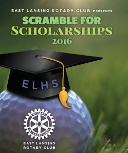 Rotary Meeting and Outing, image of logo for Scramble for Scholarships