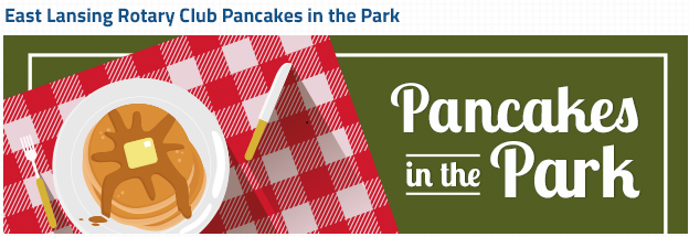 Pancakes in the Park June 4 at Patriarche Park, East Lansing